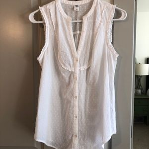 Button Down V-Neck Tank - NWOT